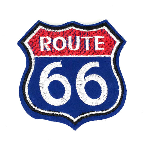 Rood Blauwe USA Route 66 Patch