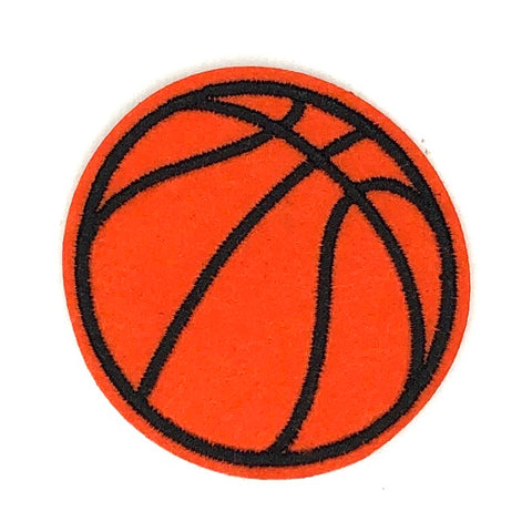 Kleine Oranje Basketbal Strijk Patch
