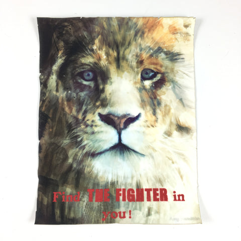 Leeuw Met Tekst Find The Fighter In You Applicatie