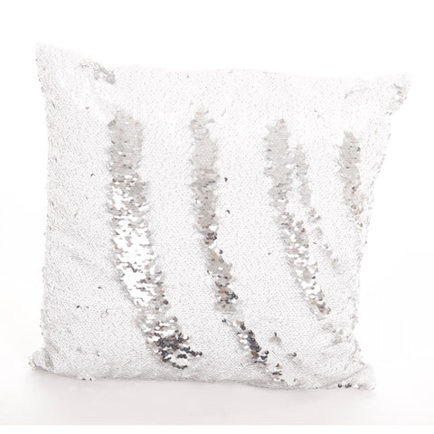 Mermaid Pillow sierkussen - Wit / Zilver