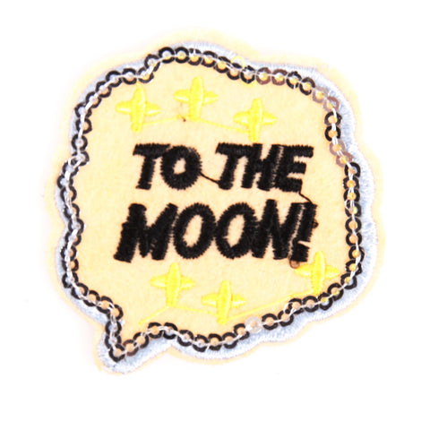 Tekstwolkje To The Moon Patch