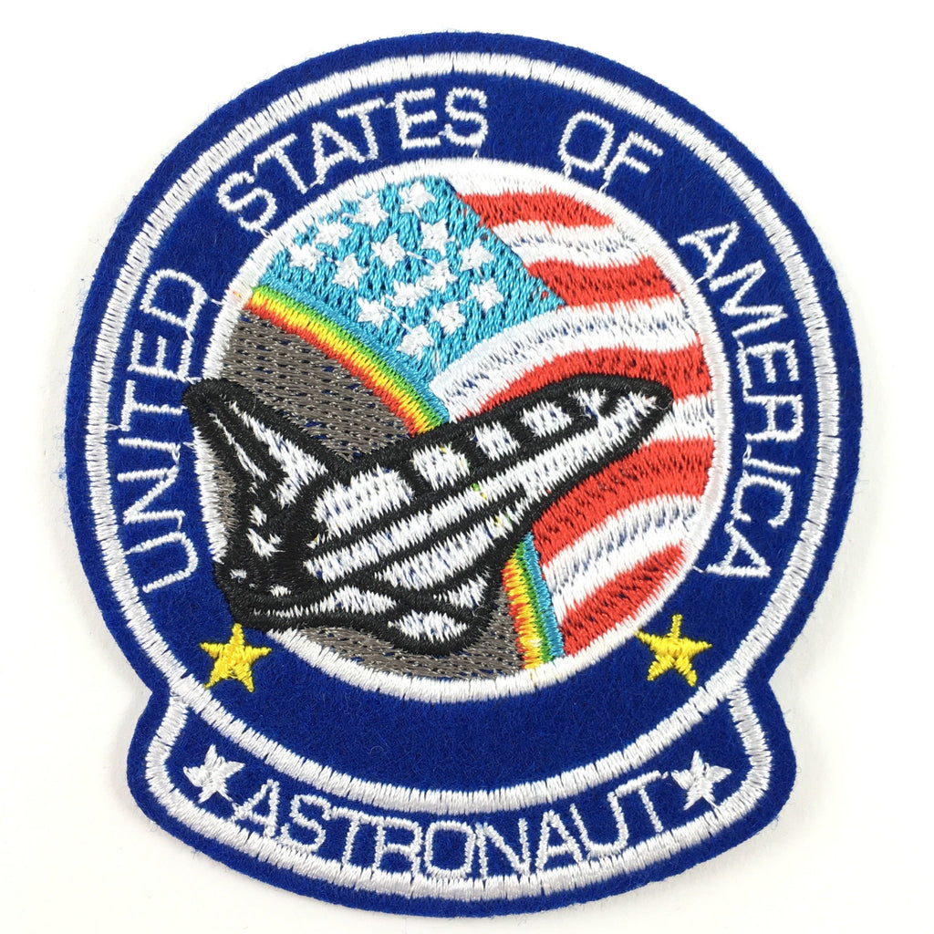 United States Of America Astronaut Tekst Space Shuttle Strijk Patch