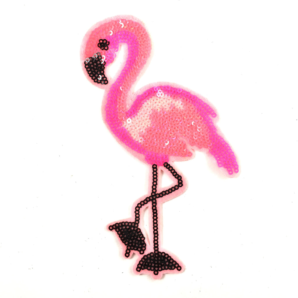 Roze Paillette Flamingo XL Patch