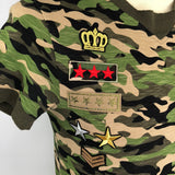 Paillette Army Military Sergeant Strepen Patch