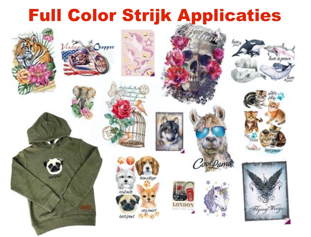 Full Color Strijkapplicaties