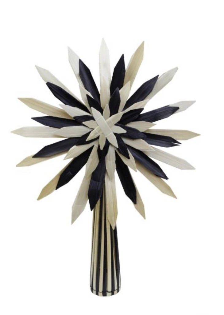 Scandi Black and natural tree topper