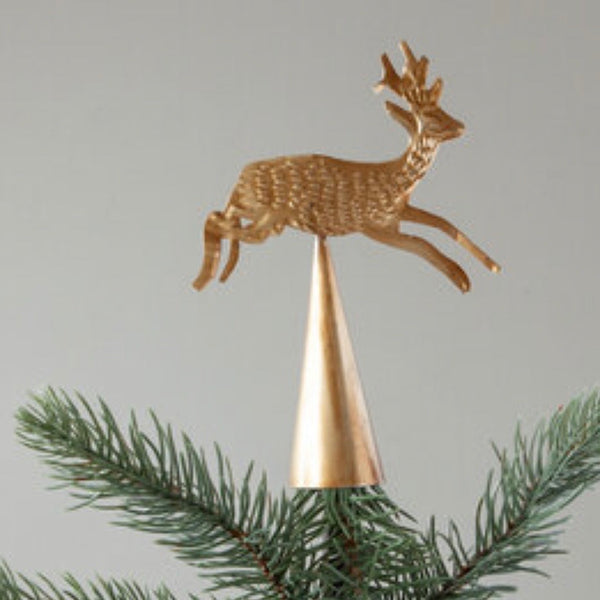 Reindeer metal tree topper