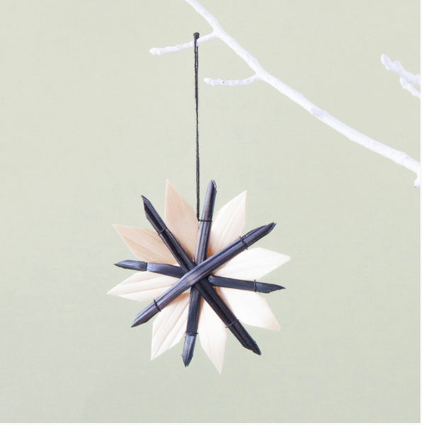 Scandi Black flower decoration