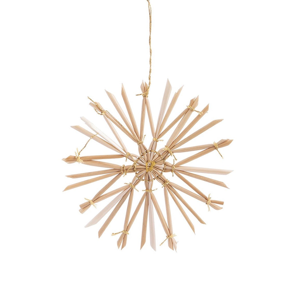 Scandi Star round decoration