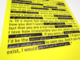 LOVE NOTE / Poster / Neon Yellow / 420x594mm
