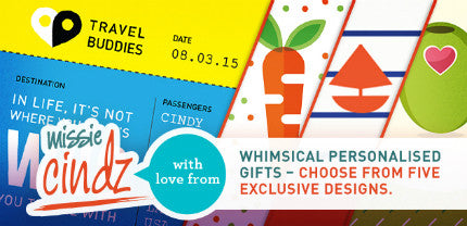 Travel Buddies & Other Whimsical Personalised Gift Ideas by Missie Cindz