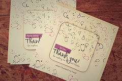 Thank you for making me feel better coaster cards - doctor and nurse