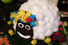 Finished Sheep School Easter Hat