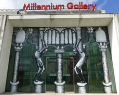 Phlegm Street Artist Work at Millennium Galleries, Sheffield