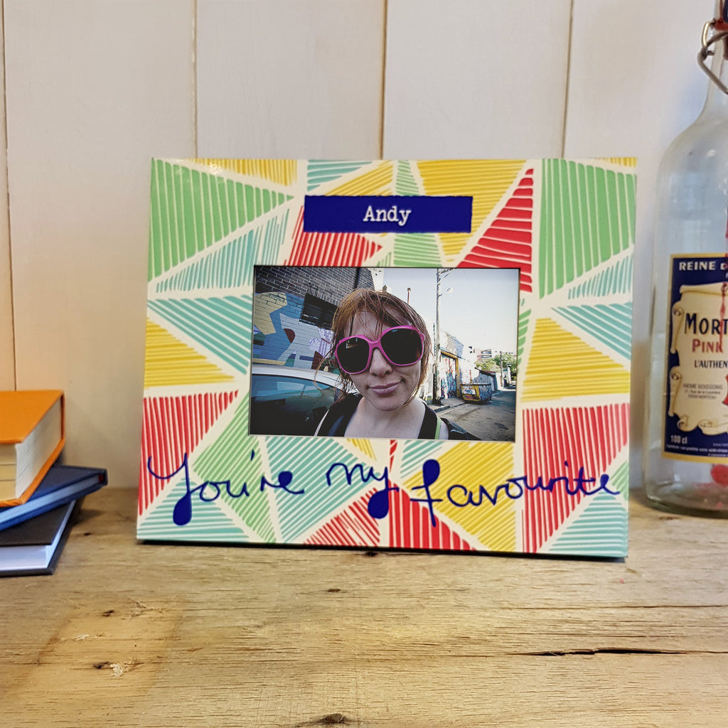 "Vicky Yorke ""You're My Favourite"" Geometric Colour Printed Photo Frame"