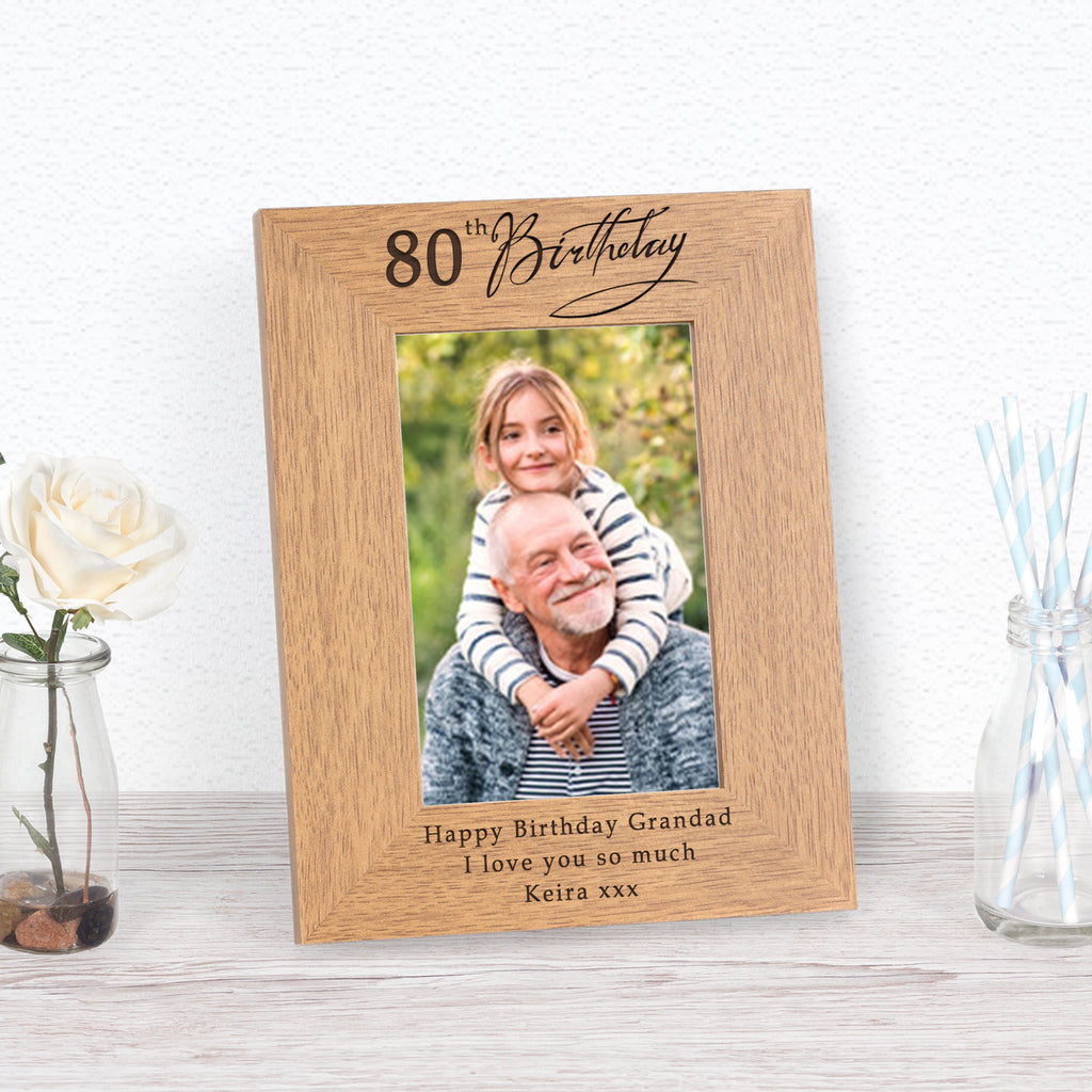 80th Birthday Photo Frame