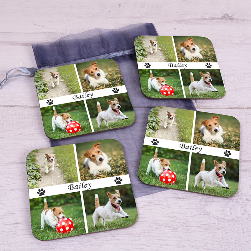 Pet Photo Upload Coaster Set