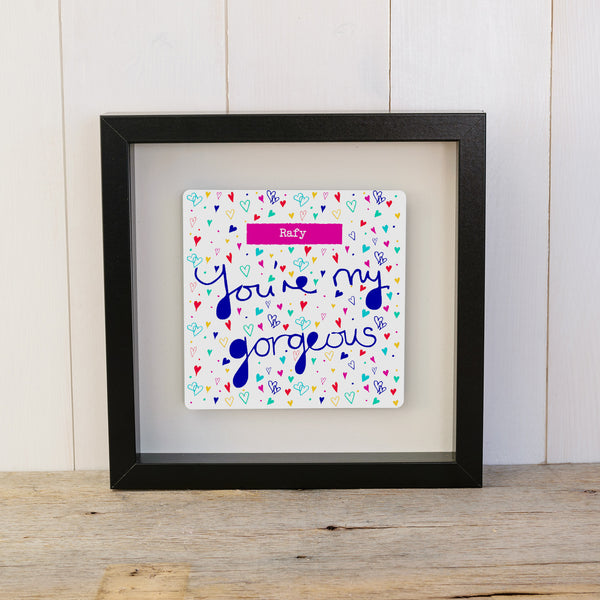 """You're My Gorgeous"" Personalised Valentine's Box Frame Gift"