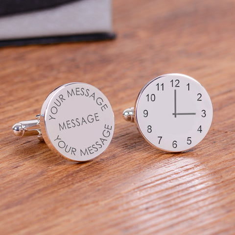 Your Message and Time Cufflinks