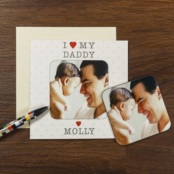 I Love My Mummy / Daddy / Relation Coaster Card