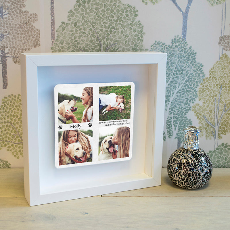 Personalised Hardest Goodbye Floating Metal Box Frame