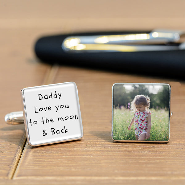 Love You To The Moon Photo Cufflinks