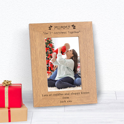 Mummy Our 1st Christmas Together Photo Frame