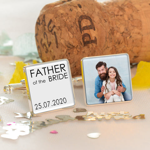 Father of the Bride / Groom Photo Cufflinks