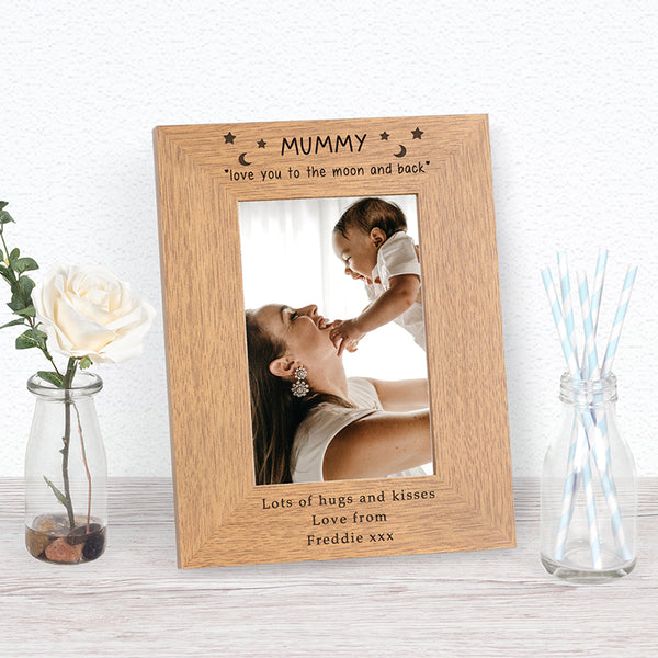 Mummy love you to the moon Photo Frame