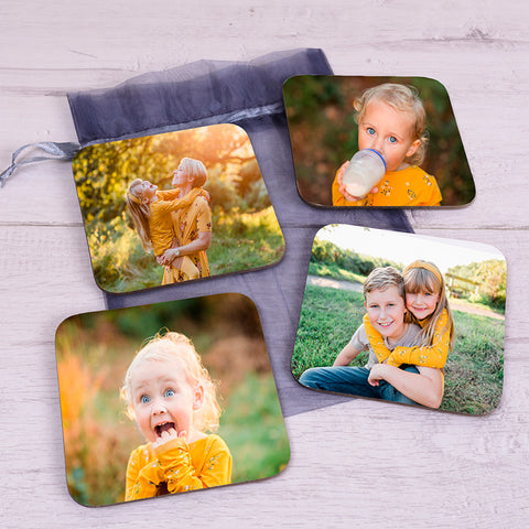 Photo Upload Coaster Set