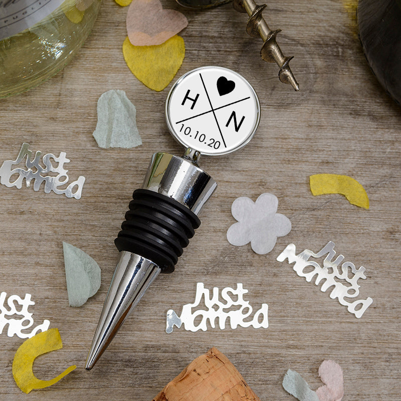 Bottle Stopper - Initials & Date