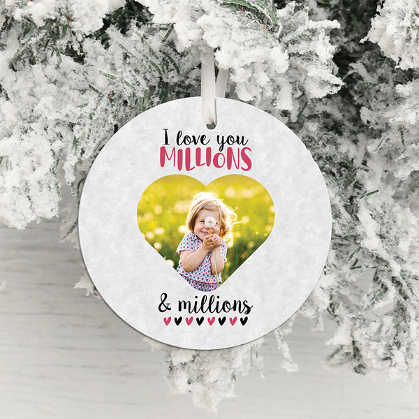 Love You Millions Photo Upload Hanging Decoration