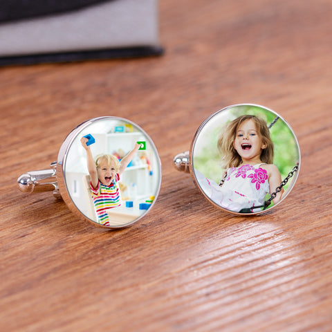 Photo Upload Round Cufflinks