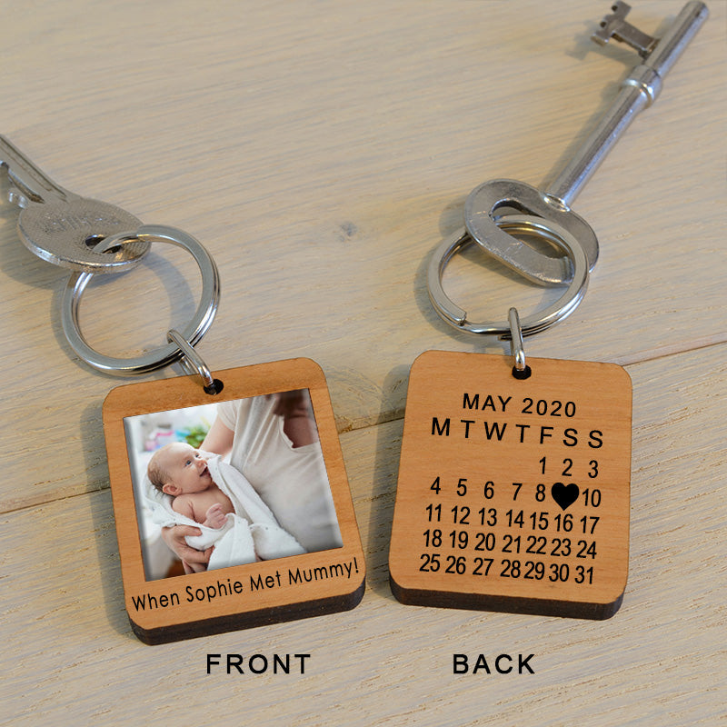 When Met...Mummy Photo Key Ring