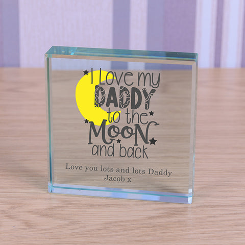 Glass Token - I love my Daddy