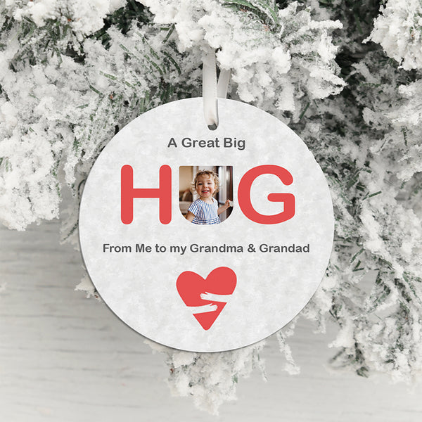A Great Big Hug Photo Upload Hanging Decoration