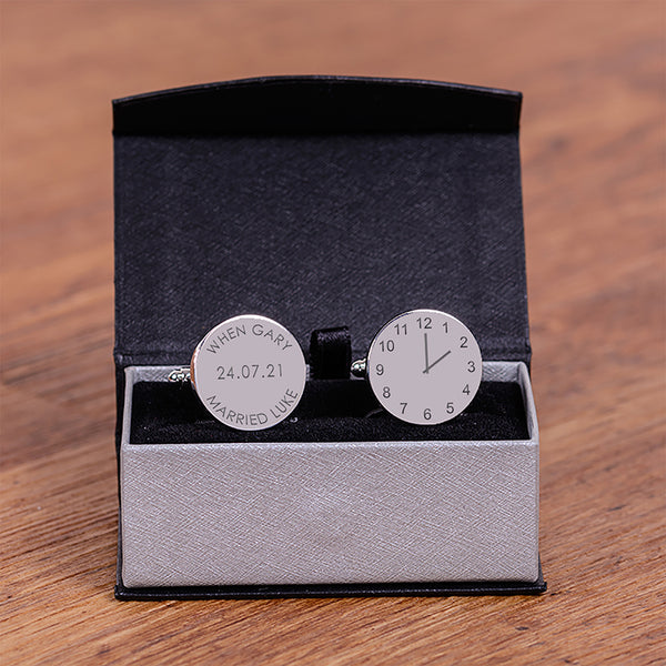 When we married Time Cufflinks