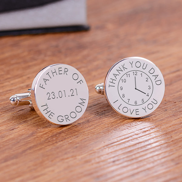 Thank You Dad Time Cufflinks