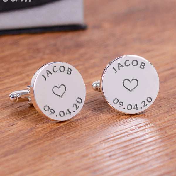 Names and Dates Cufflinks