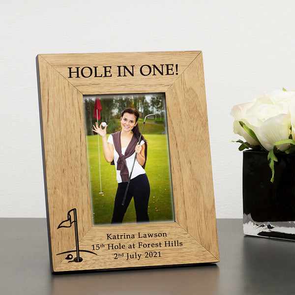 Hole in One Wooden Photo Frame