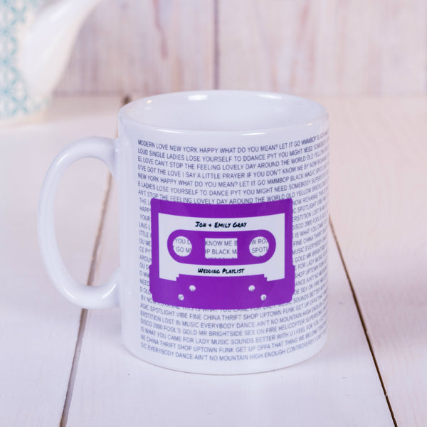 Mixtape / Playlist Cassette Mug - Purple