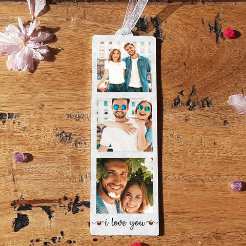 HANGING PHOTO TOKEN  - I LOVE YOU