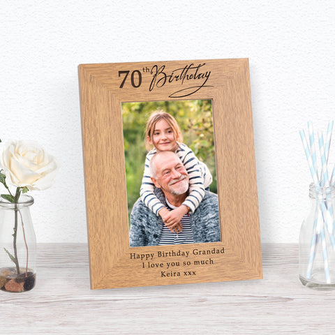70th Birthday Photo Frame