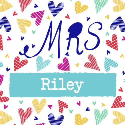 Mr or Mrs Confetti Hearts Mug