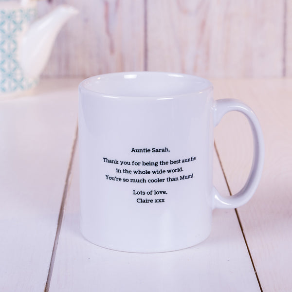 Best. Auntie. Ever Personalised Mug - Reverse