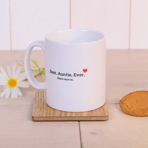 Best. Auntie. Ever Personalised Mug - gift for auntie