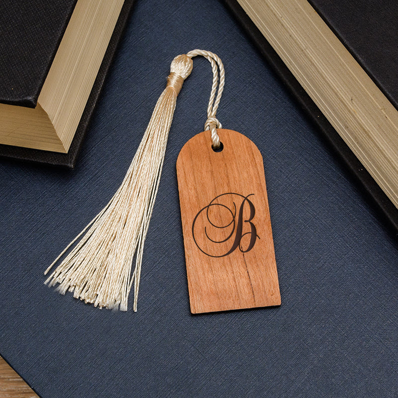 Arch Wooden Bookmark - Initial