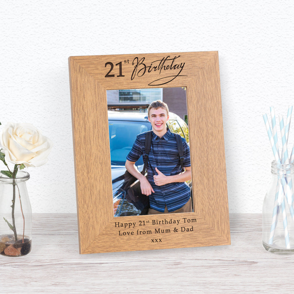 21st Birthday Photo Frame