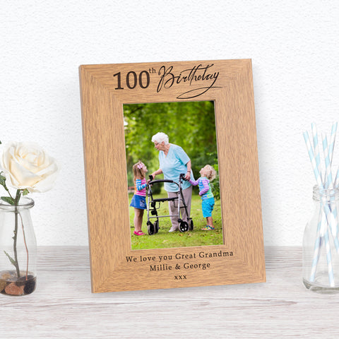 100th Birthday Photo Frame