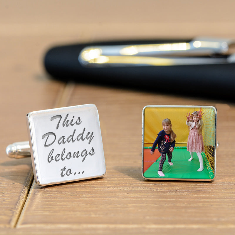 This Daddy Belongs To...Photo Cufflinks